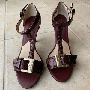 Micheal Kors Burgandy Leather Heel Size 7.5 M